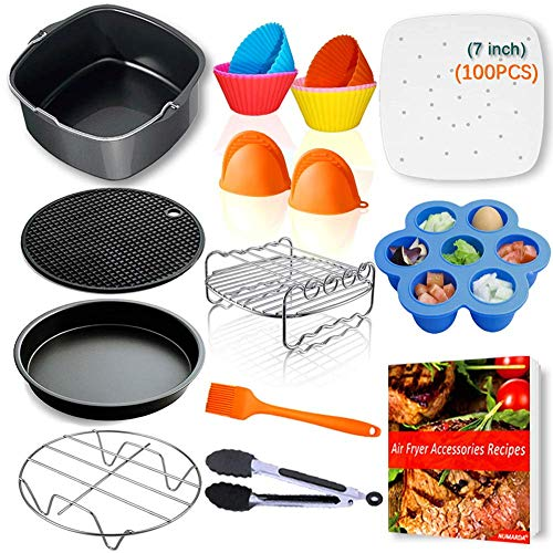 An image of the Air Fryer Accessories Set for Gowise Phillips and Cozyna, Set of 5, Fit All 3.7QT - 5.3QT - 5.8QT …