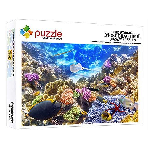 Puzzle Puzzle 1000 Piece Puzzles For 8 Year Olds Wooden Puzzles Underwater World High Definition Printing For Age 12 And 12 And Up Kids 29.52 In X 19.68 In