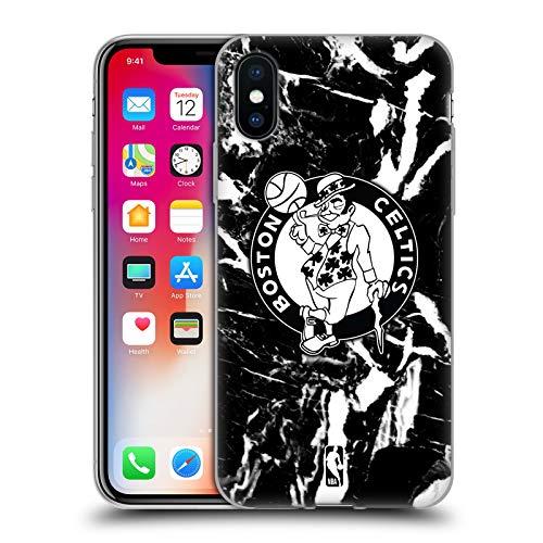 Head Case Designs Licenza Ufficiale NBA Marmoreo 2019/20 Boston Celtics Cover in Morbido Gel Compatibile con Apple iPhone X/iPhone XS