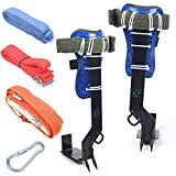 TBVECHI Tree Climbing Gear, Climbing Tool+Safety Belt, Upgrade Claws, Tree Climbing Construction Harness Protective Gear, Hunting Observation Picking Fruit