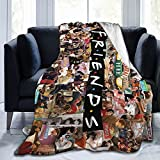 Throw Blanket Cozy Plush Keep Warm Ultra-Soft Blankets for Sofa Couch Bed