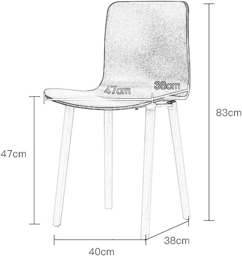 HURONG168 Chaises de cuisine Nordic moderne simple décontracté dossier chaise maison négociation réception chaise en plastique siège lounge (Couleur : Rouge) Noir