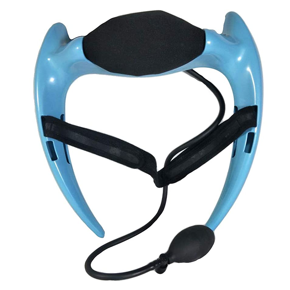 解読する麻痺させるカプラーHealifty 首のけん引力調節可能な通気性の首サポートブレースネック首の首の襟首の首の痛みを和らげるリハビリ傷害回復(ブルー)