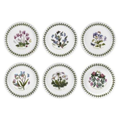 Portmeirion Botanic Garden - 5' Bread and Butter Plates - Set of 6