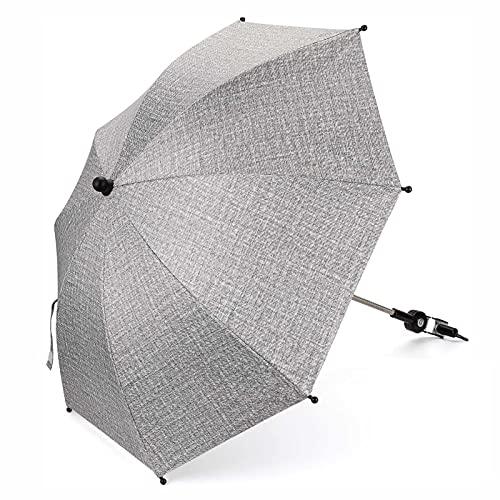 QHWJ PRAM Parasol Universal UV Protección de protección Umbrella con Abrazadera Ajustable, Parasol de protección Solar para cochecitos, Cochecito, Buggy