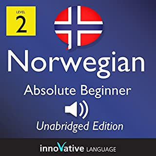 Learn Norwegian: Level 2 Absolute Beginner Norwegian, Volume 1: Lessons 1-25                   By:                                                                                                                                 InnovativeLanguage.com                               Narrated by:                                                                                                                                 Innovative Language Learning                      Length: 5 hrs and 25 mins     1 rating     Overall 4.0