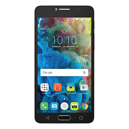 Alcatel 5095K-2DALWE1 POP 4S Smartphone (14 cm (5,5 Zoll) FHD IPS Display, 16 GB Speicher, Android 6.0) dunkel grau