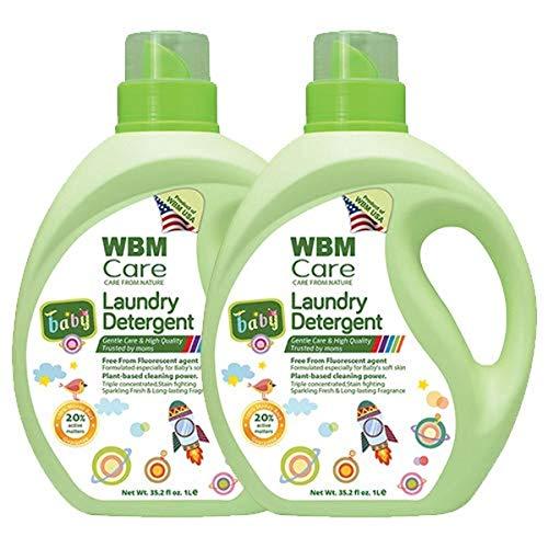 WBM LLC 8615-2PK 3X Concentrated Liquid, Plant Based, 35.2 Oz, Active Baby Laundry Detergent, 70 Fl oz
