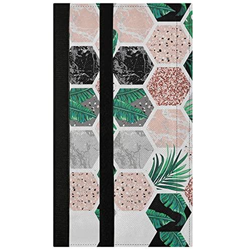 Oarencol Juego de 2 fundas para manija de puerta de refrigerador, geometría de mármol, diseño de hojas tropicales, decoración de electrodomésticos de cocina para nevera, horno y lavavajillas