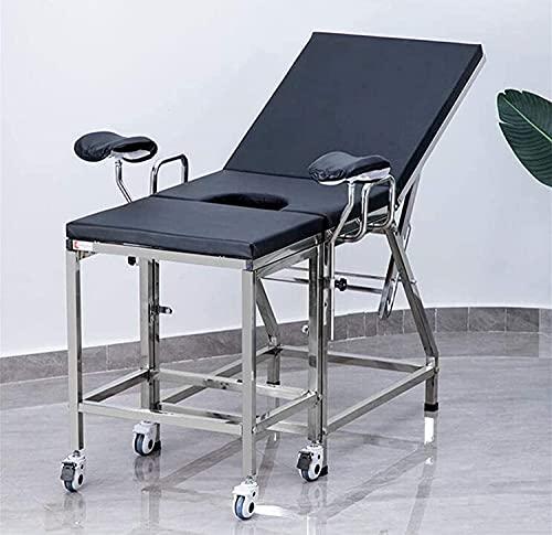 SUN RNPP Mesa de Examen médico, Cama de Examen ginecológico médico, Cama quirúrgica de Parto Engrosada con Respaldo Ajustable, Equipo de Hospital para Pacientes ambulatorios