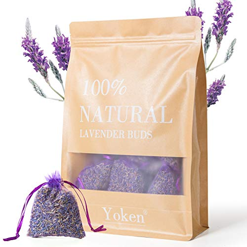 Yoken Natural Lavender Sachets Scented Sachets for Drawers and Closet, 16 Pack Sachet Packets for Car & Home