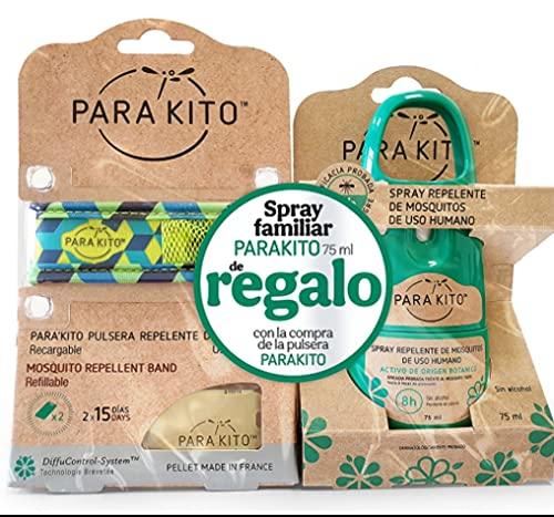 PARAKITO Pulsera Mosquitos + Spray Familiar PARAKITO 75 ML de Regalo.