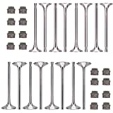 3mirrors Performance Intake Valves Exhaust Valves Valve Stem Seals Kit Compatible with Aud...