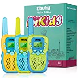 Obuby Toys for 3-12 Year Old Boys, Walkie Talkies for Kids 22 Channels 2 Way Radio Gifts Toys with Backlit LCD Flashlight 3 KMs Range Gift Toys for Age 3 up Boy and Girls to Outside , Hiking, Camping