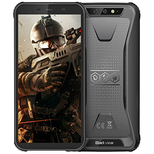 Image of Rugged Cell Phone Unlocked, Blackview BV5500 GSM IP68 Waterproof Smartphone, Android 8.1 3G Dual SIM 5.5 inches Quad Core 2GB+16GB,4400mAh Battery [MIL-STD 810G] [Facial ID] Mobile Phones,Black: Bestviewsreviews