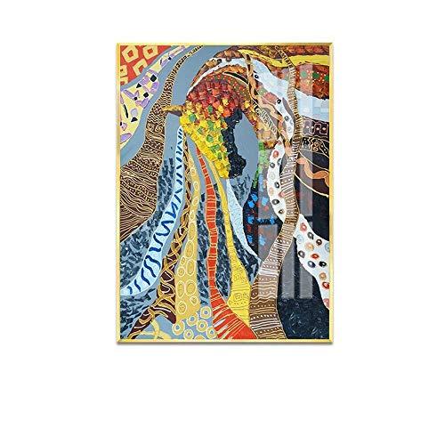 WSJTT Calefactor Nórdico, Moderno, Minimalista, Colorido, Pintura al óleo, computadora, inyección de Tinta, óleo, Lienzo, Material, Mural Decorativo (Tama?o:50 * 70 cm) (Size : 50 * 70cm)