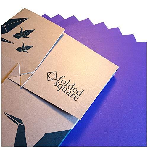 Folded Square Origami Conjunto de Regalo de 100 Hojas de Papel para papiroflexia - Pantone Violeta 2607
