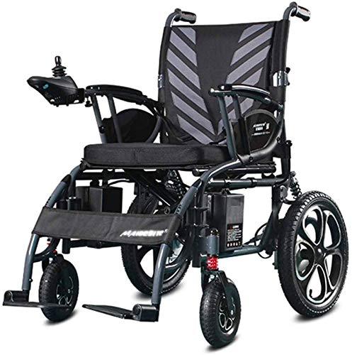 Silla de Ruedas eléctrica Plegable, Silla de ruedas eléctrica silla de ruedas de rehabilitación médica, silla de ruedas, silla de ruedas eléctrica, plegable y ligero silla de ruedas eléctrica, Anchura