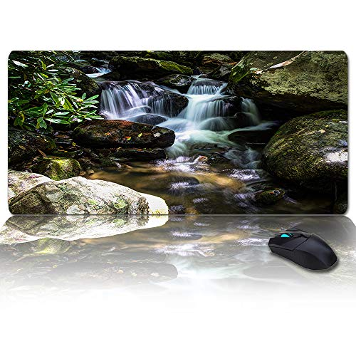 Large Size Gaming Mouse Pad Beautiful Rivers and Forests Scenery Computer Game Mouse Mat Optimized for Gaming Sensors