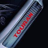 4 Piezas Protector Barra de Umbral de Puerta, para VW Volkswagen Touran Fibra Carbono Coche Desgaste Pedal Travesaño Placa Cubierta Película Insignia Pegatinas Car Accesorios