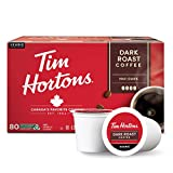 Tim Hortons Dark Roast Coffee, Single-Serve K-Cup Pods Compatible with Keurig Brewers, 80ct K-Cups