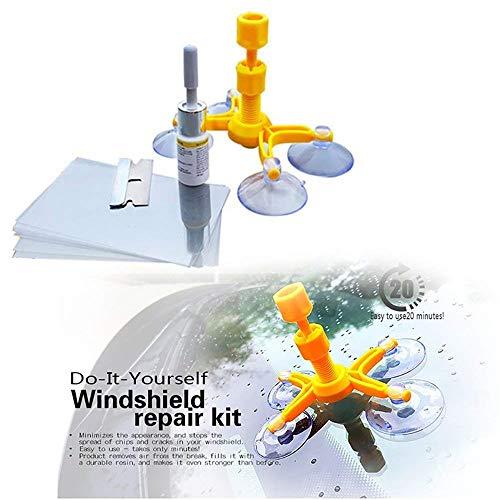 SingMax Fire Windschutzscheiben-Reparatur-Set – Professionelles Windschutzscheiben-Reparatur-Set, Quick Fix DIY Auto Kit Fenster Glas Kratzer Reparatur-Kits für Chip & Risse