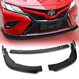 Stay Tuned Performance PU/628/PCF Carbon Fiber Print Front Bumper Body Kit Lip 3PCS Compaitble with 2018&Up Camry