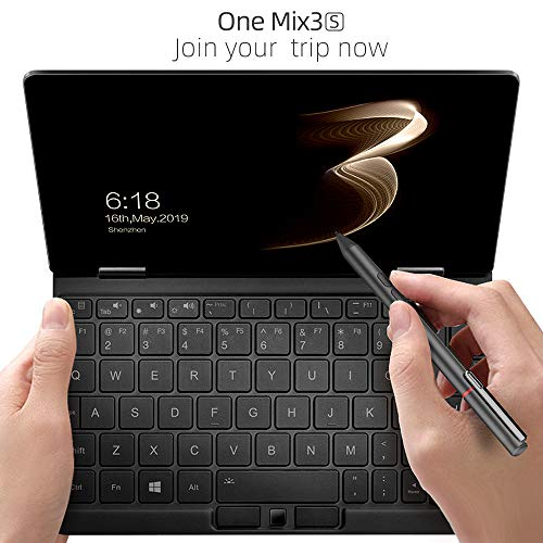 [3rd Generation] One Netbook One Mix 3S Yoga 8.4' Black Pocket Laptop Ultrabook UMPC Windows 10 Mini Laptop Intel Core M3-8100Y CPU,2560X1600 Touch Screen Tablet PC 16GB RAM/512GB Storage
