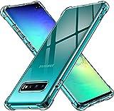 ivoler Funda para Samsung Galaxy S10+ / S10 Plus, Carcasa Protectora Antigolpes Transparente con Cojín Esquina Parachoques, Suave TPU Silicona Caso Delgada Anti-Choques Case