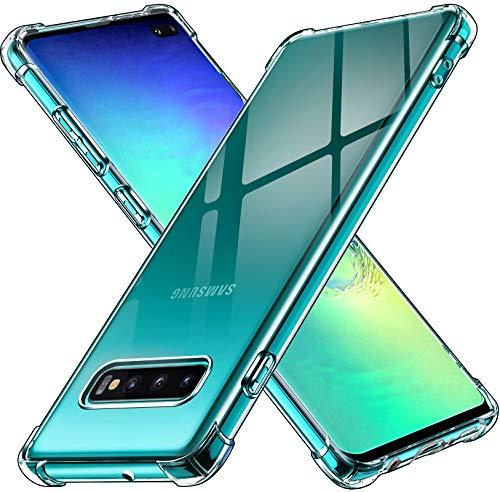 iVoler Cover per Samsung Galaxy S10+ / S10 Plus, Custodia Trasparente per Assorbimento degli Urti con Paraurti in TPU Morbido, Sottile Morbida in Silicone TPU...