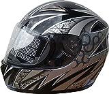 WinNet Casco da moto in fibra di vetro e carbonio integrale omologato
