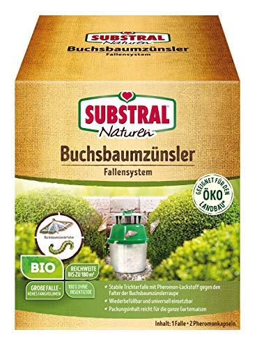 Substral Naturen Bio Chenilles Pyrale du Buis Fallensystem au Befallskontrolle, 100% Insecticide-Gratuit - Vert, 1 Set