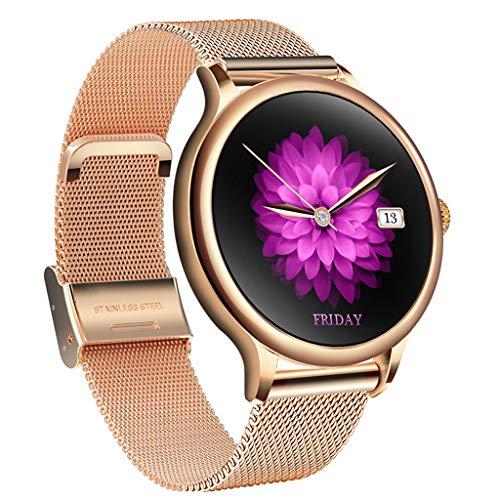 APCHY Reloj Inteligente para Smartwatch Mujer,Rastreadores De Actividad del Período Menstrual,Pulsera De Estudiante Femenina,Monitor De Frecuencia Cardíaca De Fitness, Podómetro,B