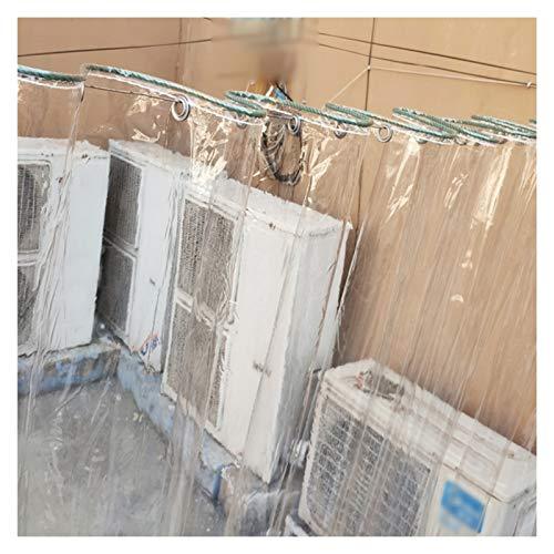 ALGFree Lona Impermeable Exterior, Lona Impermeable d Poliéster Multiusos, Lona for Jardin, Piscina, Terraza, 0.5mm de Espesor (Color : Clear, Size : 2x4m)