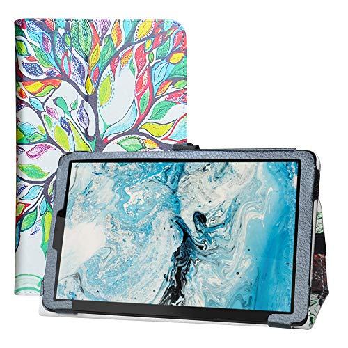 LFDZ Funda Lenovo Smart Tab M8,Soporte Cuero con Slim PU Funda Caso Case para 8' Lenovo Smart Tab M8 / Lenovo Tab M8 HD(2nd Gen) (TB-8505FS) Tablet [Not fit Lenovo Tab M8 FHD],Love Tree