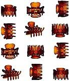 12 Pezzi Clip Capelli Donna Artiglio Capelli Clip Artigli Per Medie Dimensioni Plastica Clip Molto Adatto lo Styling Dei Capelli -1,3inch/pc