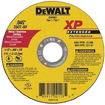 Amazon Com Dewalt Dw8057 12 Inch By 7 64 Inch By 1 Inch Xp Metal Stud Cutting Wheel Home Improvement