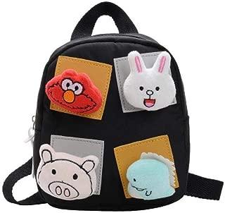 School Bag Cartoon Children Backpacks Kindergarten Schoolbag Animal Kids Backpack Children School Bags Girls Boys Backpacks Zhaozb (Color : Black)