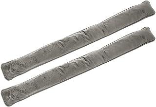 com-four® 2X Bouchon Anti-Courants d'air pour Portes et fenêtres - Coupe-Vent en Microfibre - Bouchon Anti-Courant d'air é...