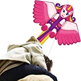 Flying Toy Kites-Unicorn Kite for Kids Adult Outdoor Beach Park Playing-Easy to Fly-100 Meter String with Handle, Great Gift for 5-60 Year Old Boys and Girls