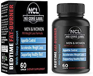 Nu Core Bedtime Weight Loss Supplement Helps Burn Pure Fat While You Sleep. Wake Up Thinner with Our Breakthrough Night Ti...