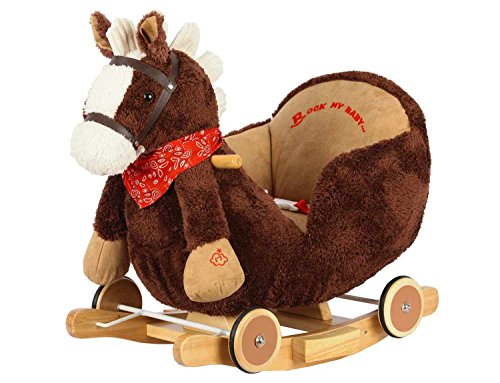 Dunjo® Baby Schaukeltier Pferd mit Sitz, Rollen, Soundmodul, 66283