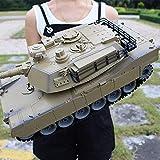 GRTVF Tanque de Control Remoto, Juguetes Militares Tiger alemán Panzer Tank 2.4GHz vehículos RC con Sonido y luz, Tanques Recargables de 1/18 Escala con torreta giratoria y acción de Retroceso