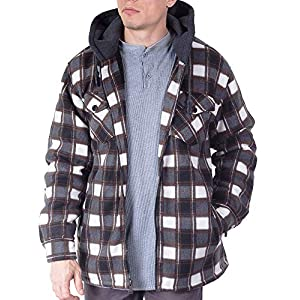 Men's Heavy Flannel Shirt Jacket  Big and Tall