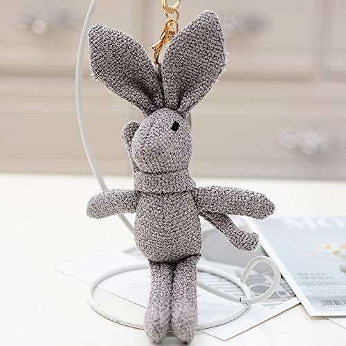 yfkjh Boutique Tuch Kaninchen, Anhänger Schlüsselanhänger, Zubehör Tasche hängen Ornament, Auto Schlüsselanhänger, Puppe Tasche Anhänger 20 cm Dunkelgrauer Schal Kaninchen