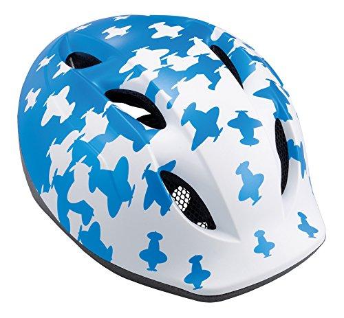 MET casco da bicicletta per bambini Buddy, Blue aerei, 46-53 cm, 3HELM19UNBB