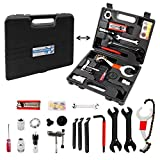 Navegando Bike Repair Tool Kit, Multi-Functional Bicycle Tool Kit with Torque Wrench for Repairing Tires, Brakes, Chains, Pedals, 18 PCS Complete Bike Tool with Portable Storage Box