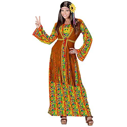 WIDMANN Disfraz de hippie para Mujer, Multicolor, Medium