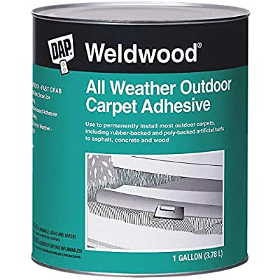 Dap 00442 Weldwood All-Weather Outdoor Carpet Adhesive, 1-Quart