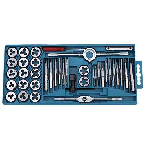 Juego de 40 llaves métricas y matrices con herramienta de acompañamiento M3-M12 y 1/8 NPT-27 para taller automotriz
